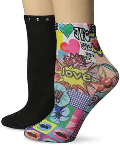58851ea2cc4 Koi Women's Novelty Socks with Fun Print Two Pack Leopard and Pop Culture