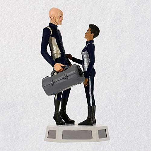 Hallmark Keepsake Christmas Ornament 2019 Year Dated Star Trek: Discovery Commander Saru and Michael Burnham with Sound, -