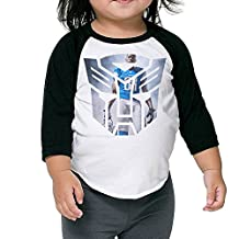 Detroit Lions Calvin Johnson Megatron Autobots Logo Kids 3/4 Raglan T Shirts