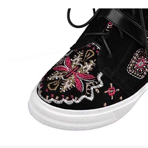 Zapatos bordado molino Botas interior hebilla Cinturón bordado Zapatos QPYC Señoras 242cc6