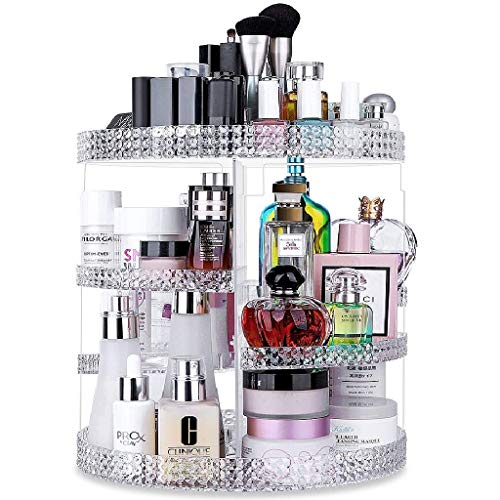 Awenia Makeup Organizer 360-Degree Rotating, Adjustable Makeup Storage, 7 Layers Large Capacity Cosmetic Storage Unit, Fits Different Types of Cosmetics and Accessories, Plus Size
