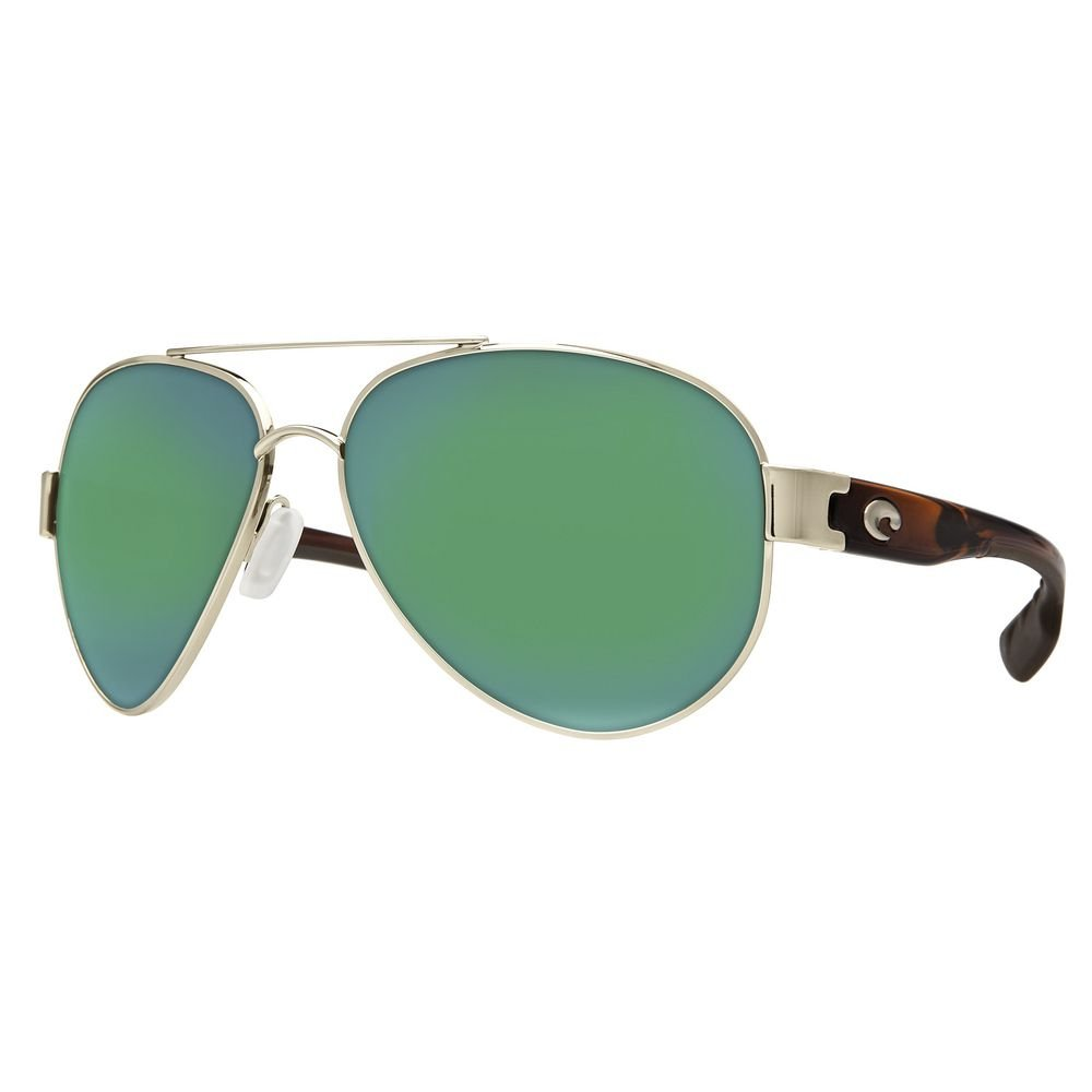 Costa del Mar South Point Polarized Iridium Aviator Sunglasses, Rose Gold w/Light Tortoise, 59.0 mm