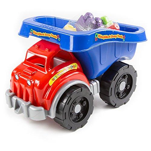 Amloid Kids at Work Block Dump Truck Set, 25-Piece