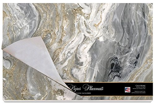 Elegant Paper Placemats on Premium Paper Stock - Package of 24 - 17'' x 11'' (Quartz)