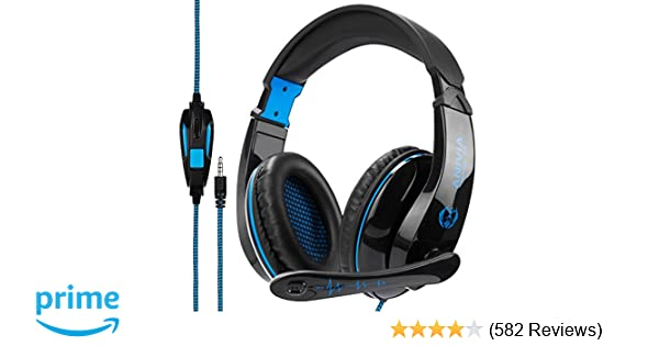 8d6de4e9f6e Amazon.com: Anivia A9 Gaming Headset Stereo PC Computer Headphones with  Microphone,Over Ear Noise Canceling 3.5mm Jack for PS4 New Xbox One Mac  Gamer ...