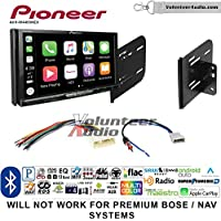 Volunteer Audio Pioneer AVH-W4400NEX Double Din Radio Install Kit with Wireless Apple CarPlay, Android Auto, Bluetooth Fits 2010-2013 Nissan Quest