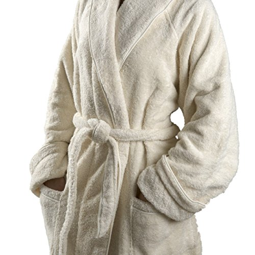 Waterworks Gotham Unisex Medium/Large Robe in Beige by Water Works