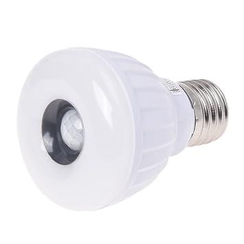 SODIAL(R) Lampara Bombilla E27 25 LED 3528 SMD Sensor de Movimiento Blanco Seguridad: Amazon.es: Hogar