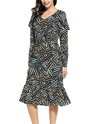 Unique Print Satin Dress - 3
