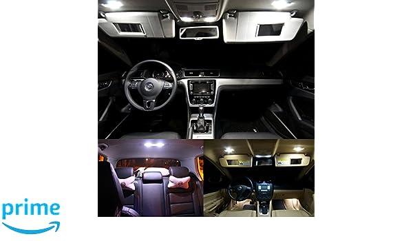 doled 5 F St 11 LED 4014 SMD Iluminación Interior Set 11 unidades Xenon blanco Canbus, no error Aviso: Amazon.es: Coche y moto
