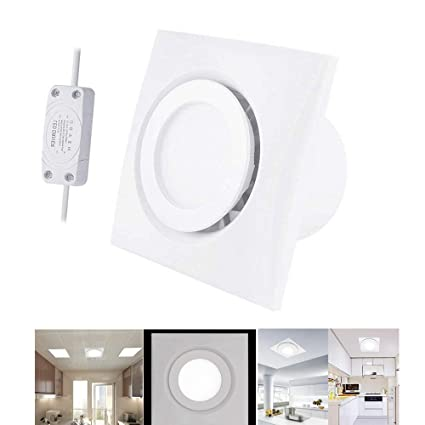 Brilliant Bewox 4 Inch Bathroom Ceiling Axial Extractor Fan With Led Light 100Mm Silent Interior Design Ideas Gentotryabchikinfo