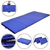MAT EXPERT 4'x8'x2'' Gymnastics Folding Mat Fitness Exercise Yoga Tumbling Mat, Blue