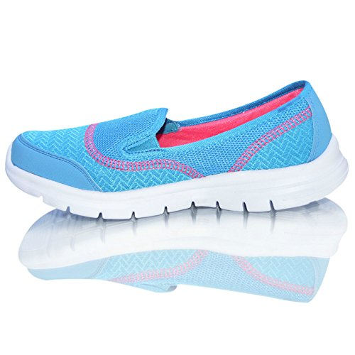 Turchese scarpe less taglie slip Air donna pompe ragazze on peso sneaker mocassini Tech Donna OwqAAf