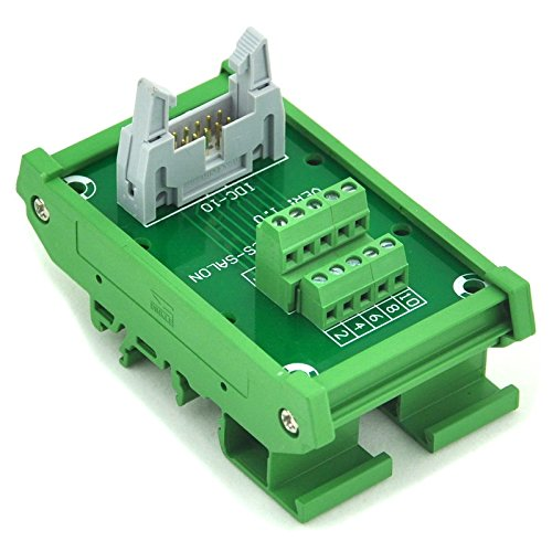 10 Interface Module (Electronics-Salon IDC-10 DIN Rail Mounted Interface Module, Breakout Board, Terminal Block.)