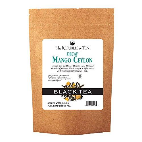 The Republic of Tea Decaf Mango Ceylon Black Full-Leaf Tea, 1 Pound / 200 Cups