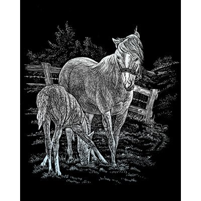 Bulk Buy: Royal Brush Silver Foil Engraving Art Kit 8''X10'' Mare & Foal SILF-15 (3-Pack) by Royal & Langnickel