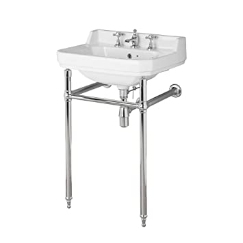 Lavabo A Consolle In Ceramica.Hudson Reed Old London Consolle Con Lavabo In Ceramica Bianca E