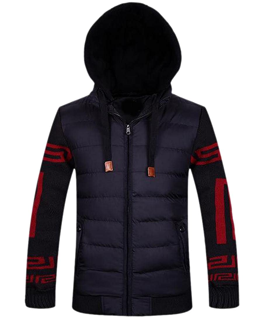 Honey GD Mens Full-Zip Hooded Winter Short Anorak Jacket