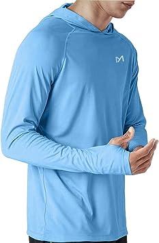 MEETYOO Camiseta Protección UV, Camisa Manga Larga UPF 50 Camisetas Deportivas Proteccion Solar para Buceo Vela Running: Amazon.es: Deportes y aire libre