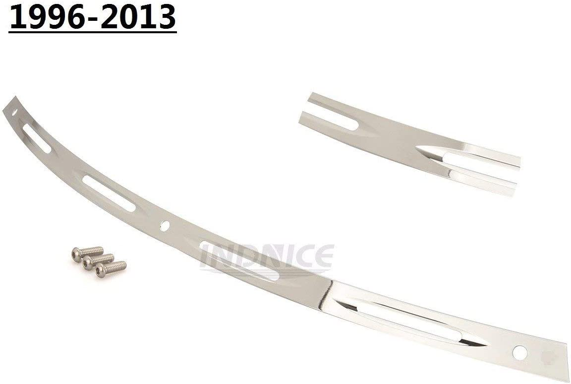 4-Slotted Batwing Fairing Windshield Trim for Harley Touring Street Glide 96-13