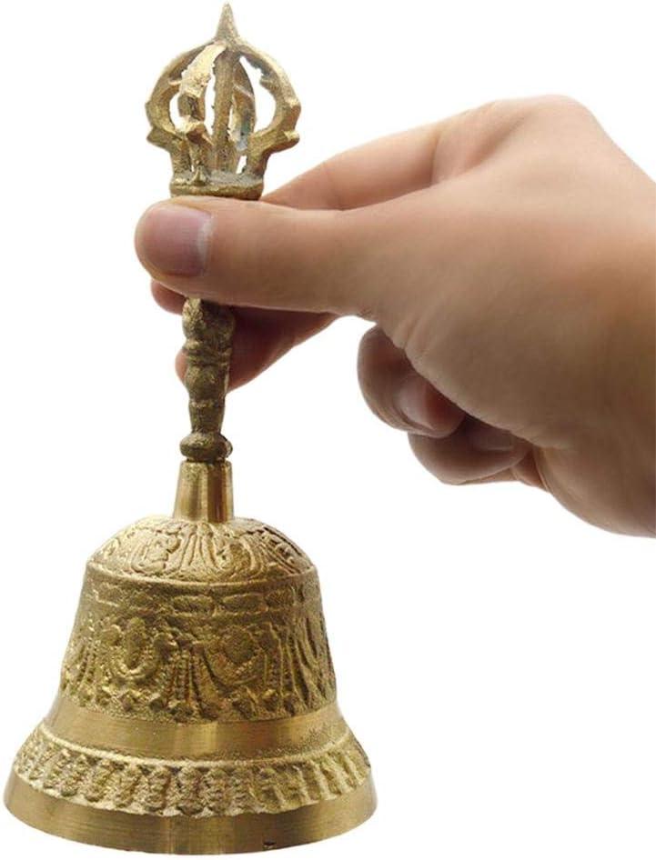 Antike Handglocke Aus Messing Hand Anruf Bell F/ür Den Schulempfang Dinner Shop Hotelservice Meditationsgebet
