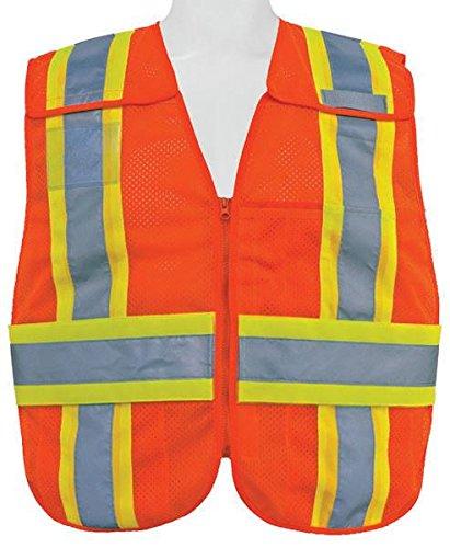 3A Safety - 5-Point Breakaway Mesh Safety Vest, size: Medium - X-large, color: Orange