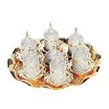 Product review for 27 Pc Handmade Turkish Arabic Coffee Cup Saucer Swarovski Crystal Set (GOLD)
