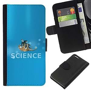 LECELL--Cuero de la tarjeta la carpeta del tirón Smartphone Slots Protección Holder For Apple Iphone 5C -- Ciencia Lucha --