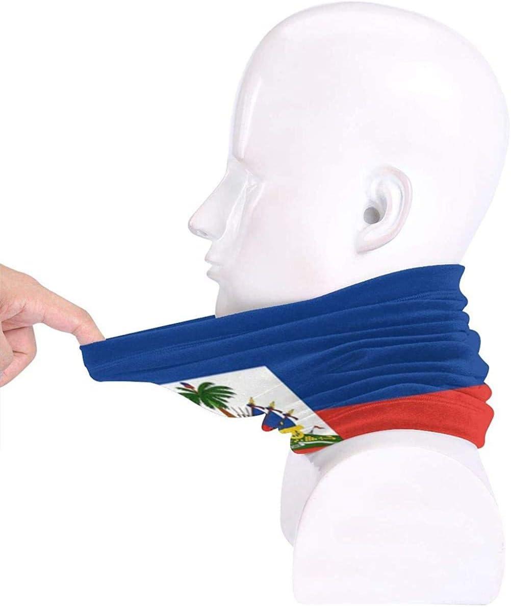 XHAJSXD Haiti Flag Microfiber Neck Warmer Headwear Scarf Mask for Summer Mask Bandana Balaclava Unisex Neck Gaiters