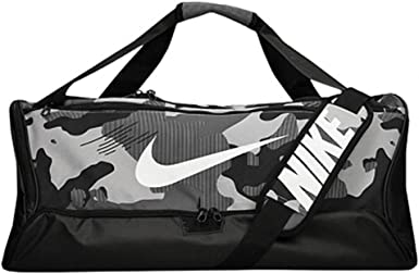 Gruñón manipular pantalla  Amazon.com: Nike NK BRSLA M Duff-9.0 AOP3 Backpacks, Unisex Adult, Light  Smoke Grey/Black/White, One Size: Clothing