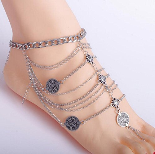 Creativelife Retro Tassel Multilayer Anklet product image