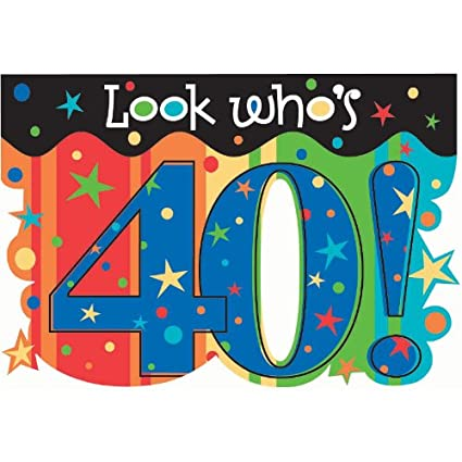Amazon Happy 40th Birthday Look Whos 40 Party Supply Invitation With Envelope 8 Count Kitchen Dining