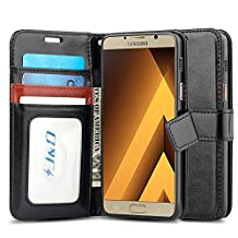 Galaxy A5 2017 Case, J&D [Wallet Stand] [Slim Fit] Heavy Duty Protective Shock Resistant Flip Cover Wallet Case for Samsung Galaxy A5 (Release in 2017) - Black