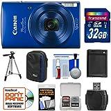 Canon PowerShot Elph 190 is Wi-Fi Digital Camera (Blue) 32GB Card + Case + Battery + Tripod + Kit