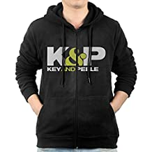 Men's Key And Peele Comedy Series Full Zipper Pocket Hooded Sweashirt