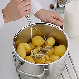 Negly (TM0 Stainless Steel Cooking Tool Potato Masher with handle Kitchen Vegetable Masher