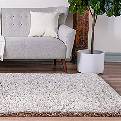 Infinity Collection Solid Shag Area Rug by Rugs.com – Linen 5' x 8' High-Pile Plush Shag Rug Perfect for Living Rooms, Bedrooms, Dining Rooms and More - SOFT AND DURABLE CONSTRUCTION - Made with high quality polypropylene that is as durable as it is soft. Our rugs stand up abuse even in high-traffic areas. PERFECTLY SIZED - 6' x 6' Round rugs are the perfect size for Dining Rooms, Breakfast Nooks, Kitchens, or anywhere you want to bring a little more style into your home EASY TO CLEAN - Our rugs are waterproof, mold and mildew resistant, stain resistant, and shed proof. With regular vacuuming (no beater bar!), your rug will last for years to come. - living-room-soft-furnishings, living-room, area-rugs - 51Wl E8RDdL. SS400  -