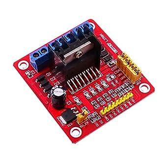 10 PCS L298N Dual Stepper Motor Driver Controller Board Module RED