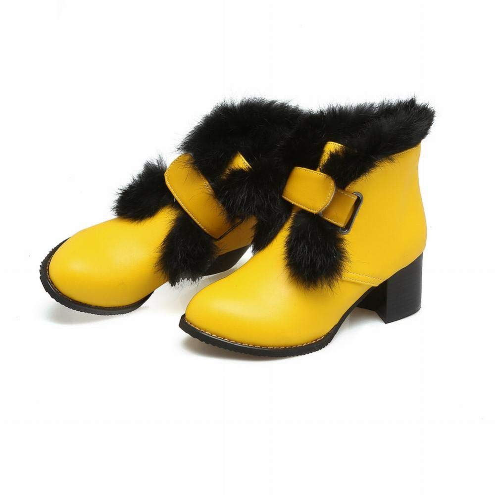 ZX XZ Womens Shoes Autumn and Winter Snow Boots Warm Womens Booties//Cotton Shoes//High Heel Womens Shoes 35-42