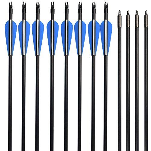 NIKA ARCHERY 28 inch Fiberglass Arrows for Compound Bow Target Shooting 12 pcs/lot