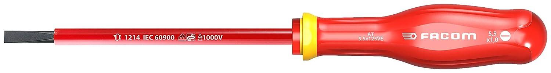 Facom AT2.5X50VE 5X50VE-Destornillador Aislado Plano 1000V PROTWIST 2.5X50