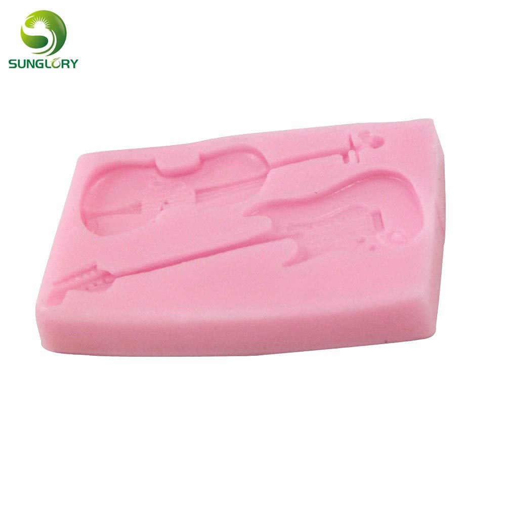 Amazon.com: Zoomy Far: Violin Guitar Fondant Silicone Cake Mold Gumpaste Moldes De Silicona For Cupcake Decoration Mold For Baking Color Pink Kitchen: Pink: ...