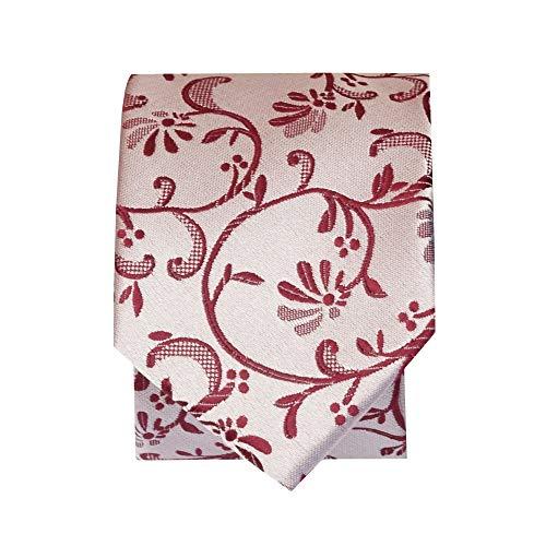 Skinny TiesRus Floral and Pocket Square Tie Set Men's Burgundy qwTRH