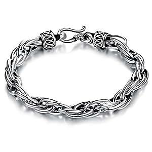 Alimab Pure 18K Gold plated Chain Bracelet for Man Chain Genuine Solid 18K Gold plated Bracelet Link Man Bracelet ,Cm YS