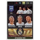 Panini FIFA 365 Adrenalyn XL 2017 Cristiano Ronaldo Bale Benzema Attacking Trios Trading Card
