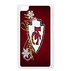 iPod Touch 4 Phone Case White Kansas City Chiefs JIL670058