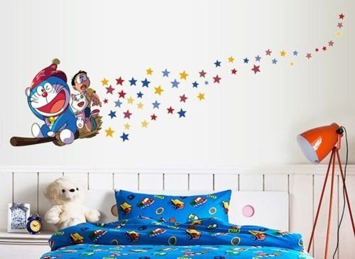 [Doraemon Fly fluorescence Paste Decal Removable WALL STICKERS Kids Home Decor] (Things That Start With Letter I)