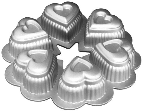 Fat Daddio's Cast Aluminum Petite Heart Ring Baking Pan by Fat Daddios