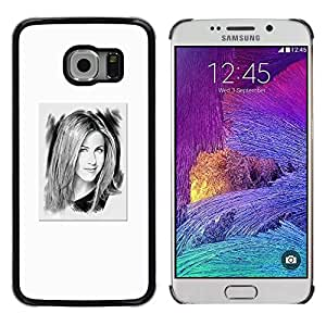 Exotic-Star ( White Portrait Hollywood Tv ) Fundas Cover Cubre Hard Case Cover para Samsung Galaxy S6 EDGE / SM-G925 / SM-G925A / SM-G925T / SM-G925F / SM-G925I