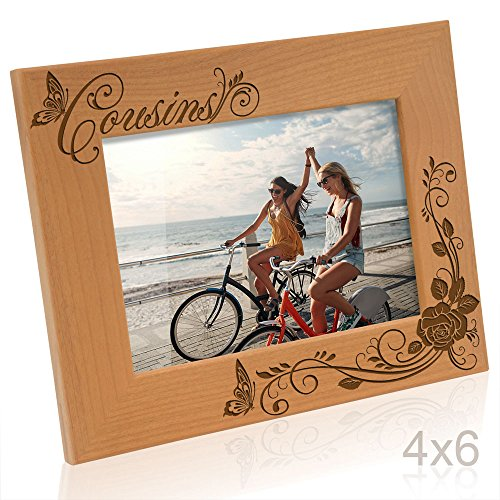 Kate Posh - Cousins Picture Frame (4x6 Horizontal) (Best Gift For Cousin Sister)